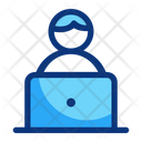 Online Learning Computer Icon