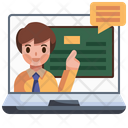 Online Learning E Learning Online Lesson Icon