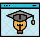 Web Page Online Learning Idea Education Graduation Icon