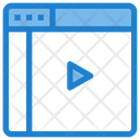 Online Lecture Learning Video Tutorial Icon