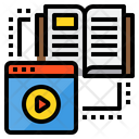 Elearning Book Lesson Icon