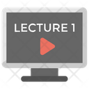 Online Lecture Video Icon