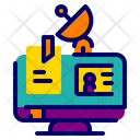 Online Lecture Online Class Satellite Icon