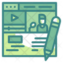 Online Lecture Video Class Content Icon