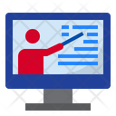 Online Lecture Online Online Class Icon