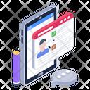 Student Portal Online Lecture Web Education Icon