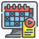 Online Lecture Timetable Icon