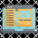 Video Laptop Lesson Icon