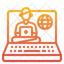 Elearning Laptop Computer Icon