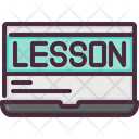 Elearning Lesson Online Icon
