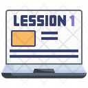 Online Lesson E Learning Online Education Icon