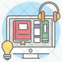 Digital Library Online Library Elibrary Icon