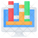Online Library Book Icon