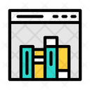 Online Library Webpage Library Icon
