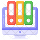 Online Folders Online Library Digital Library Icon