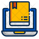 Online Library Digital Book Online Learning Icon