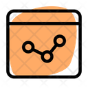 Online Line Chart Icon