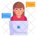 Online Linguistics Icon