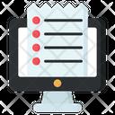 Online List Online Paper Online Checklist Icon