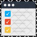Online List Checklist Todo List Icon