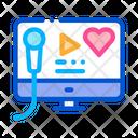 Online Listening Music Icon