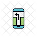 Online Location Mobile Location Location Route Icon
