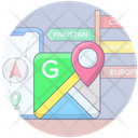 Online Location Online Navigation Mobile Location Icon