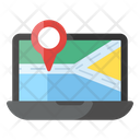 Online Location Map Pin Online Location Pointer Icon