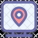Computer Location Map Icon