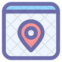 Browser Location Map Icon