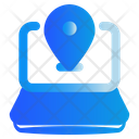 Laptop Map Compter Icon