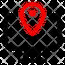 Computer Location Direction Icon