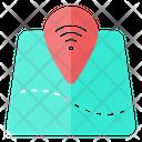 Internet Location Map Icon