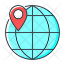 Online Location Global Location Geolocation Icon