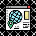 Web Site Map Icon