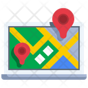 Online Location Online Map Navigation Icon