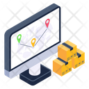 Parcel Tracking Online Shipment Tracking Online Shipping Address Icon