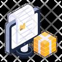 Online Logistics Bill Online Cargo Bill Online Cargo Invoice Icon