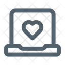 Online Love Chat Laptop Love Icon
