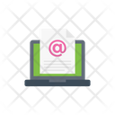 Email Document Laptop Icon