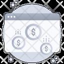 Online Earnings Online Money Web Money Icon