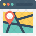 Online Map Navigation Icon