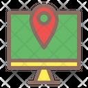 Map Computer Monitor Icon