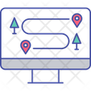 Online Direction Online Route Online Map Icon