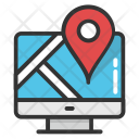 Online Map Service Icon