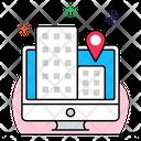 Online Market Location Icon
