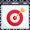 Online Marketing Target Browser Icon