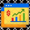 Graph Money Analytics Icon