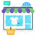 Ecommerce Online Marketplace Online Store Icon
