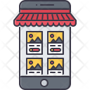 Online Marketplace Mobile Icon